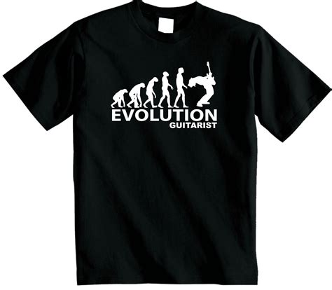 Kaos T Shirt Evolution Guitar evolution of a guitarist t shirt new evolution of