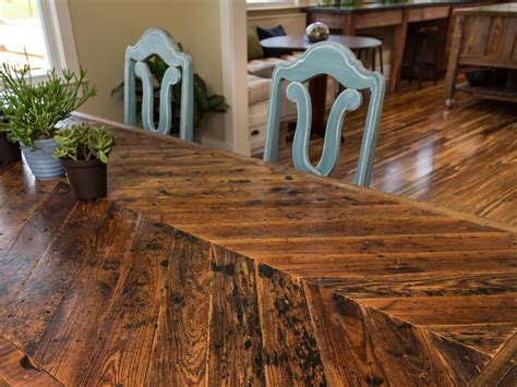 Build Wood Dining Table How To Build A Dining Table With Reclaimed Materials How Tos Diy