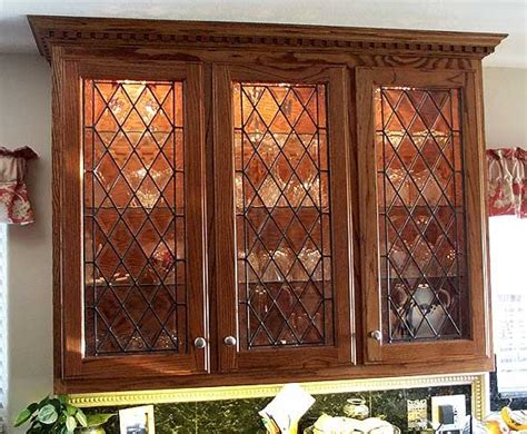 Leaded Glass Kitchen Cabinet Doors by Glass Kitchen Cabinet Doors Kitchenidease Com
