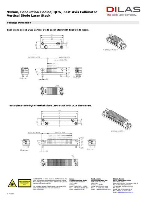 laser diode stack array 915 nm 980 nm high power laser array dilas laser