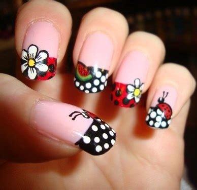easy nail art ladybug ladybug tip nails ladybug nails pinterest ladybug