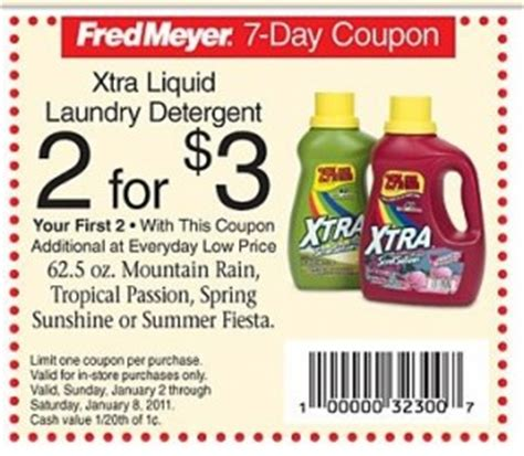 Printable Xtra Coupons | 1 off xtra laundry detergent coupon thrifty nw mom