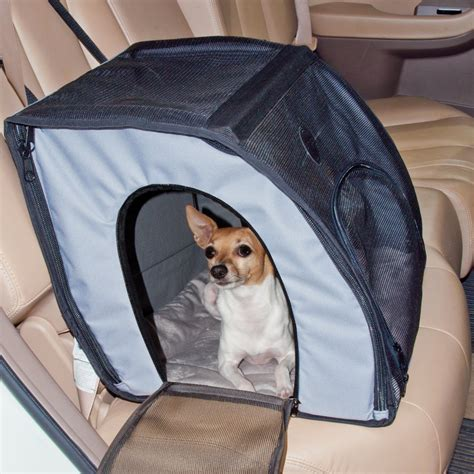 pet car booster seat safe travel safety carrier pet car seat houndabout
