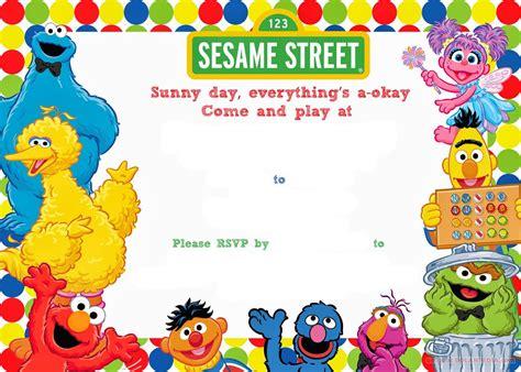 Sesame Thank You Card Template by Free Printable Sesame Birthday Invitation Sesame