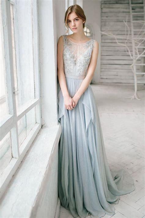 Sample sale / Silver grey wedding dress // Lobelia / Silk