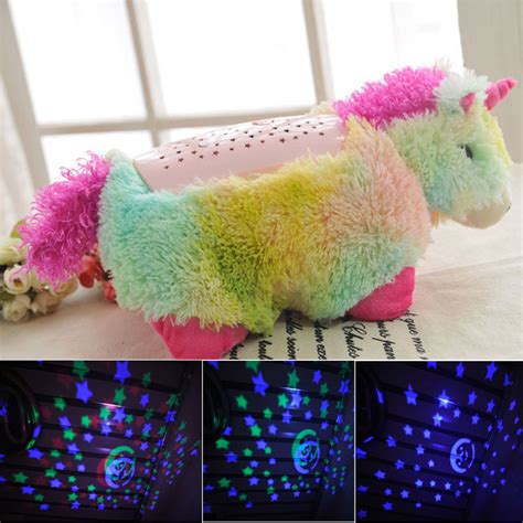 unicorn pets pillow pets light led glow in the