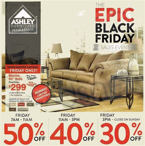 ashley furniture  black friday ad black friday archive black friday ads