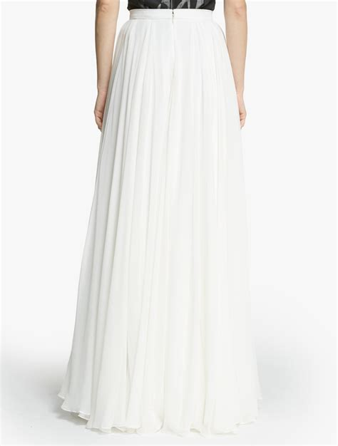 Maxi Flowy white flowy maxi skirt dress