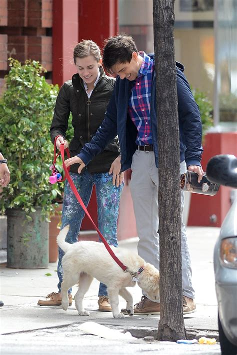 williams dogs allison williams walking in new york city april 2015
