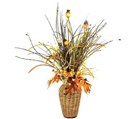 silk flower arrangements for living room custom basket weave silk flower arrangement large table centerpiece living room decor dining