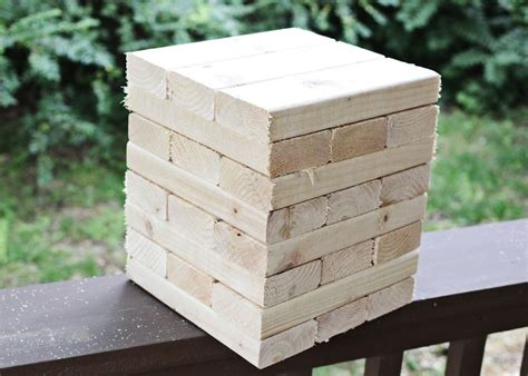 how to make backyard jenga diy backyard giant jenga game page 2 of 2 diy avenue