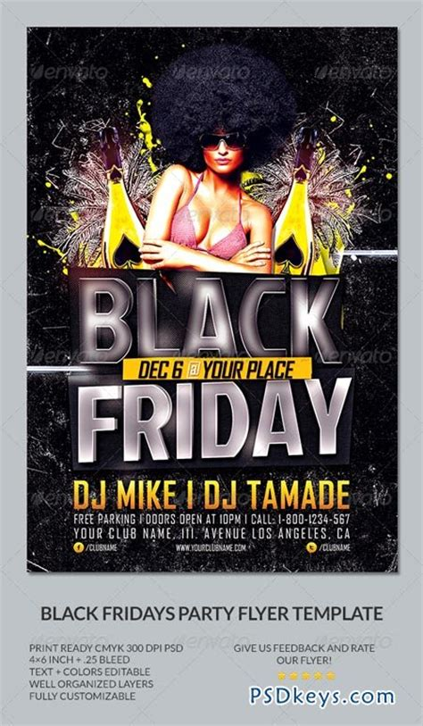 Black Friday Party Flyer Template 6483496 187 Free Download Photoshop Vector Stock Image Via Black Flyer Template