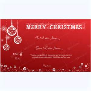 Merry Gift Certificate Templates by Gift Certificate Template 01 Word Layouts