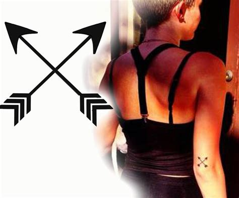 crossed arrow tattoo meaning crossed arrows miley cyrus miley got this crossed