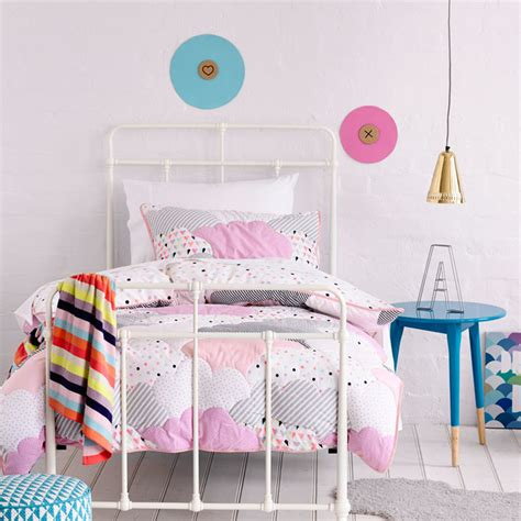 cloud bedding adairs kids girls cloud quilted contemporary kids bedding