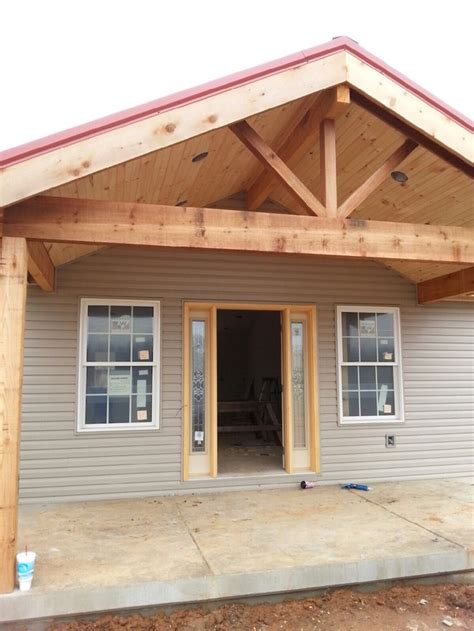 open gable cedar front porch ournewhome ranch style
