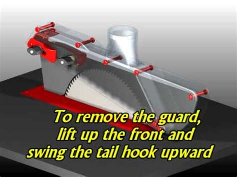 universal saw blade guard sgk1 splitter equipped saw blade guard youtube