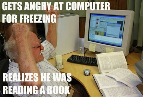 Man On Computer Meme - funny meme mories elderly man struggles with his computer