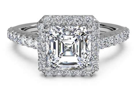 Asscher Cut Engagement Rings by Engagement Ring Settings Engagement Ring Settings For
