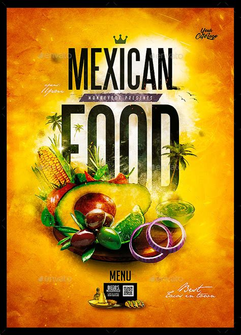 selling mexican style restaurant menu templates