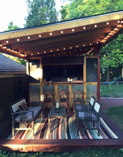 Backyard Bar Shed Plans