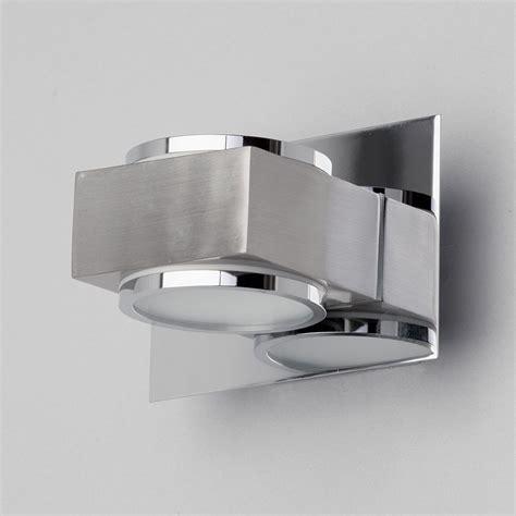 bathroom light box bathroom 2 light modern wall light in chrome w glass