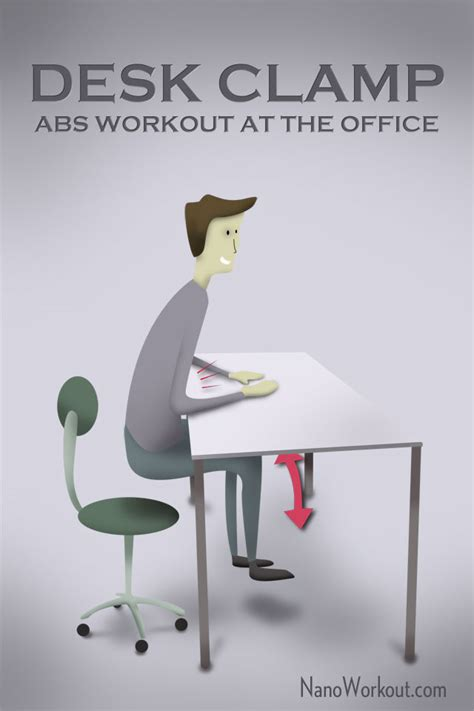 desk cl abs workout at the office
