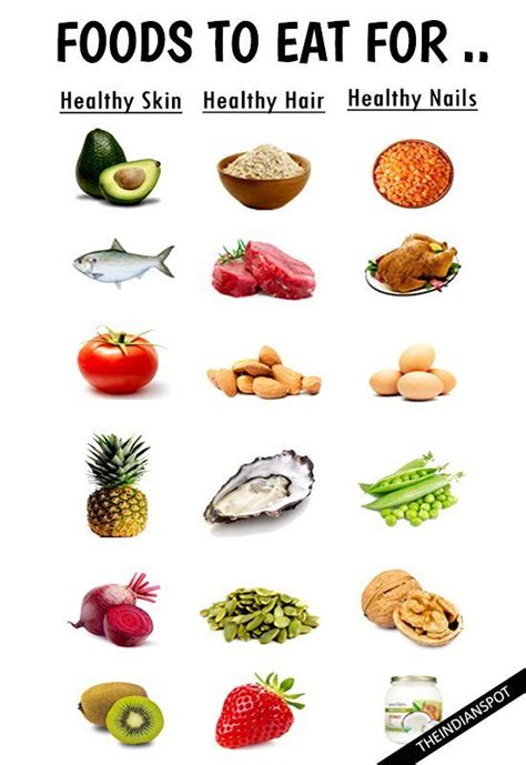 Foods To Eat To Detox Skin by Foods To Eat For Healthy Skin Hair And Nails Ontdek