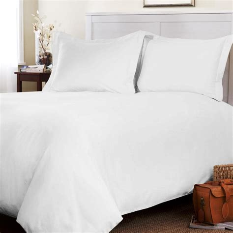 Duvet Covers Queen White Roxbury Park Solid White Queen Size 3 Piece Duvet Cover
