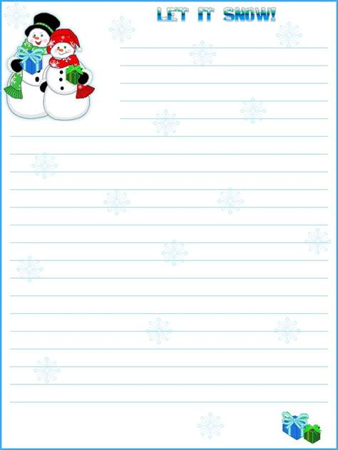 printable writing paper for winter 15 best winter stationary images on pinterest writing