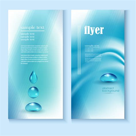flyer design water creative water flyer cover vector material 01 vector