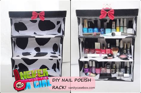 diy nail rack shoe box diy nail rack vanitycasebox