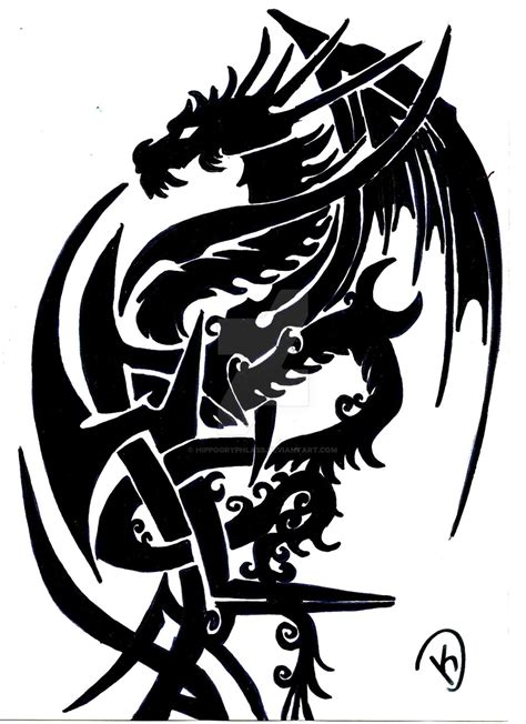 tattoo style dragon by hippogryphlass on deviantart