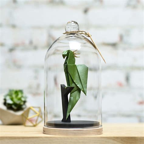 Origami Jars - origami animals in glass