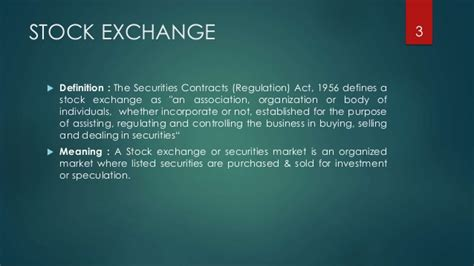 bse and nse stock exchange