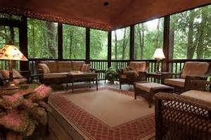 kitchen residential: this beautiful screened porch replaced an old deck and includes a