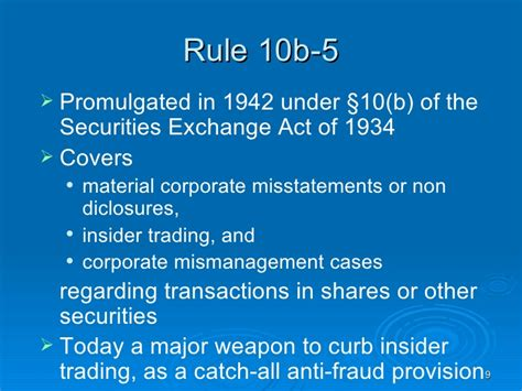 securities exchange act section 10 b insider