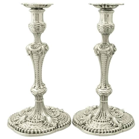 candlestick l sterling silver candlesticks antique george ii for sale
