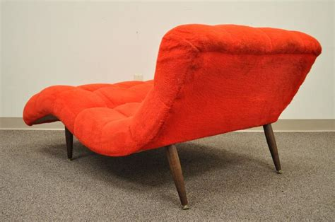 vintage wave chaise lounge vintage mid century modern wide wave chaise lounge