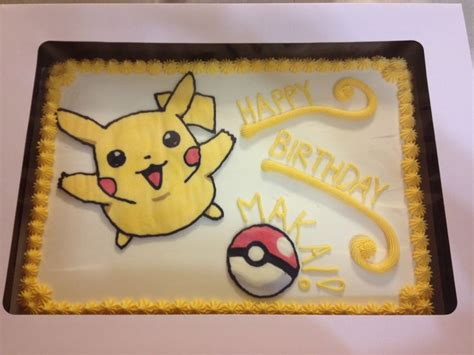 Pikachu Cake Template by Pikachu Sheet Cake From Cakefully Cake Https M