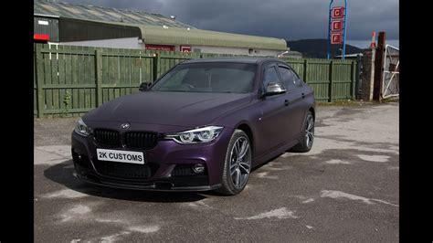 epic bmw 3 series car wrap in black purple vinyl with - Epic Vinyl Wraps Car