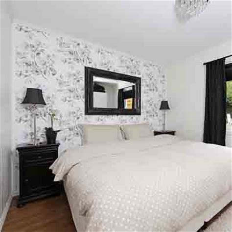 black and white wallpaper bedroom bedroom wallpaper in black white and gray one wall