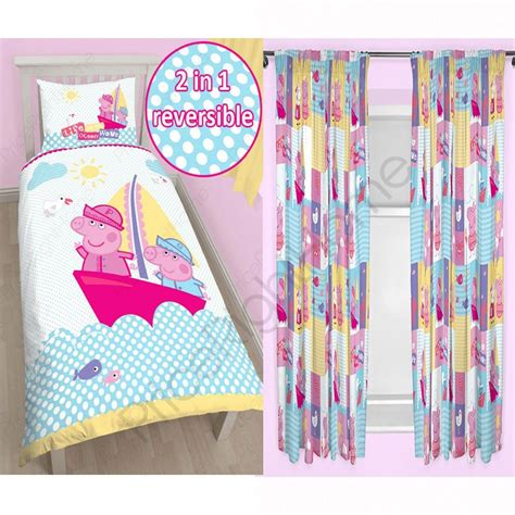 nautical curtains and bedding peppa pig nautical bedding curtains range in single