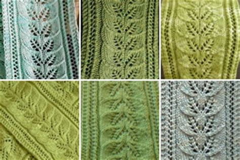 pattern leafy columns brooke s column of leaves knitted scarf pattern