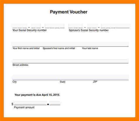 cash payment voucher format  word sales slip template