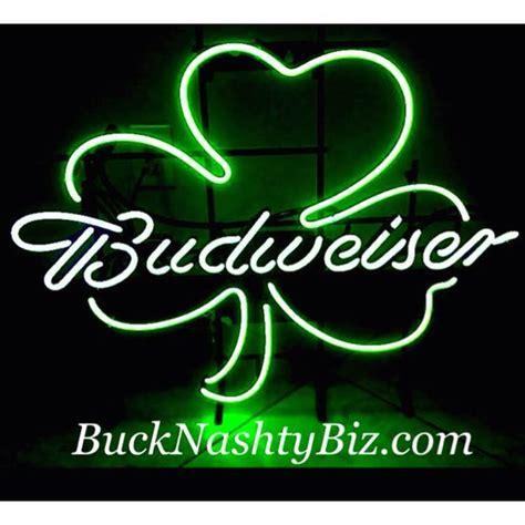 bud light shamrock neon sign 10 best nfl coors football beer bar club neon light sign
