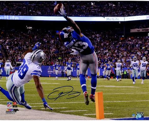 odell beckham jr is now doing windmill 1 handed catches odell beckham jr s signed one handed touchdown catch 16x20