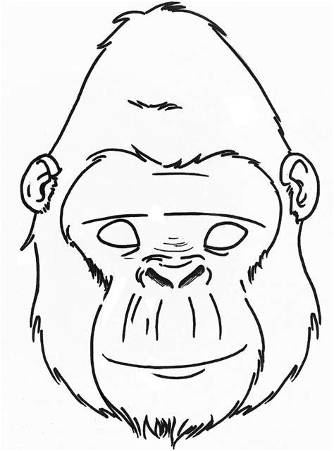gorilla outline coloring page gorilla mask printable google search junior