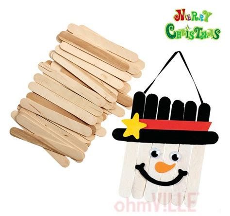 Handmade Things With Sticks - diy craft tool 410 wooden popsicle sticks wooden spatula