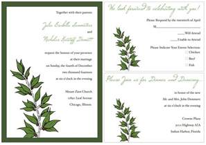 template of invitation sle wedding invitation template card invitation templates